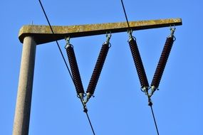 catenary current power line energy sky view