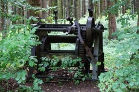 old machine in the forest