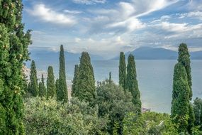 the sky in the clouds over the garda lake