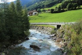 landscape of Valle Aurina