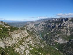 landscape of the Gorge du Verdon in France
