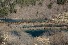 natural scenery in Jiuzhaigou National Park