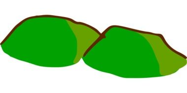 graphic drawing of green hills