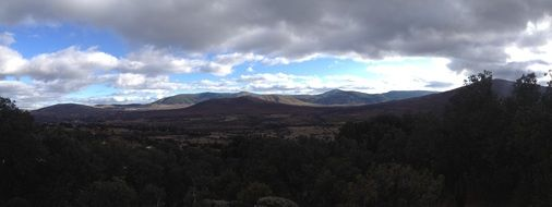 Panoramic view of the mountains in Madrid