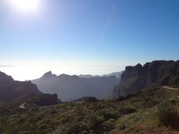 panorama of nature in tenerife