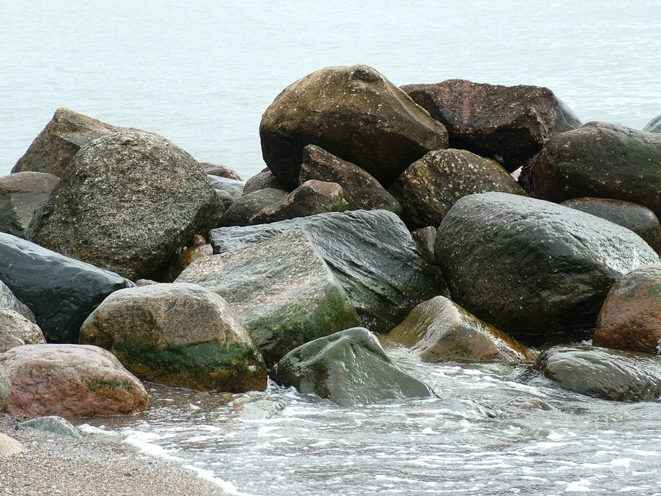 big stones on the Baltic Sea coast