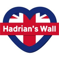Love England collection vector Hadrian's Wall Heart and Flag