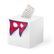 Ballot box with voicing paper