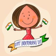 Cute girl celebrating Indian Independence Day N2