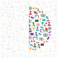 Soccer circle icons background Illustration vector eps10