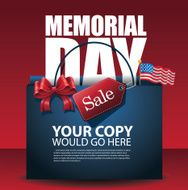 Memorial Day Sale shopping bag Background EPS 10 vector