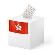 Ballot box with voicing paper N3
