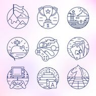 Set round vector icons