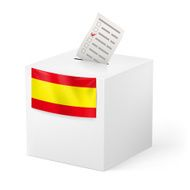 Ballot box with voicing paper Spain
