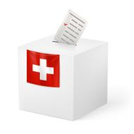 Ballot box with voicing paper Switzerland
