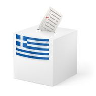 Ballot box with voicing paper Greece