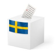 Ballot box with voicing paper Sweden