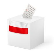 Ballot box with voicing paper Poland