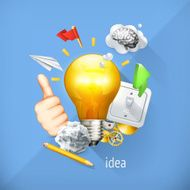 Idea concept business brainstorming