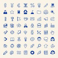 Business icons simple set Vector Hand drawn