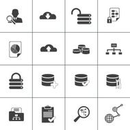 Data base analyse and development web icon