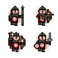 red army pixel soldiers
