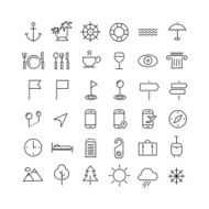 Travel line icons N2