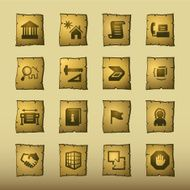 papyrus building icons
