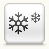 Square Button with Snowflakes