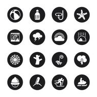All Season Icons Set 3 - Black Circle Series N2