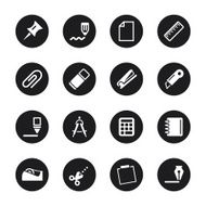 Office Icons Set 2 - Black Circle Series N2