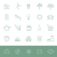Line Icons - Environmental Conservation