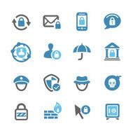 Privacy and Internet Security Icons - Conc Series