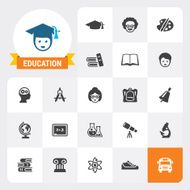 Education base vector icons and label N2