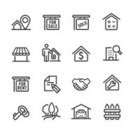 Real Estate Icons - Line Series