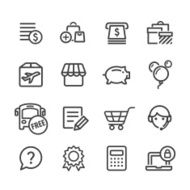 Shopping Icons Set - Line Series