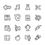 Education Icons Set - Line Series N2