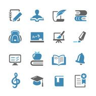 Education Icons Set - Conc Series N2
