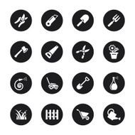 Gardening Icons - Black Circle Series