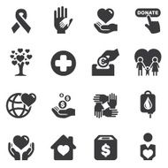 Charity Silhouette icons N2