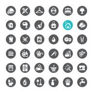 Cleaning and Housework vector icons