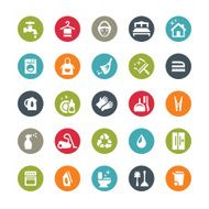 Housework and Cleaning icons Ringico series