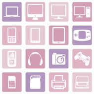 Vector Set of Digital Devices Icons N2