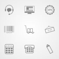 Contour vector icons for online store