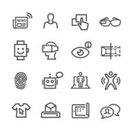 Communication and Digital Technology Icons - Line Series