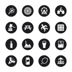 Festival Icons - Black Circle Series