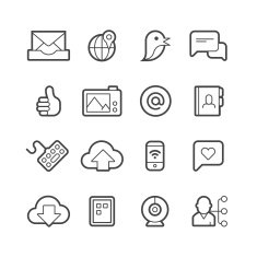 Digital communication icons