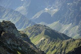 tatry mountains aerial view