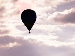 hot air ballooning in the cozy sky