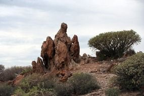bizarre rocks in tenerife
